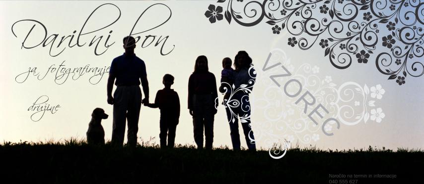 Darilni bon za fotografiranje družine