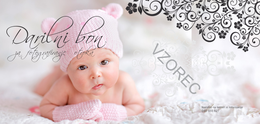 Darilni bon za fotografiranje otroka in novorojenčka